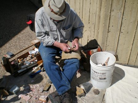 RodJohnson Flintknapping Demonstration