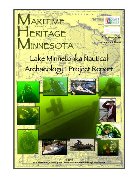 Pages from MHM 2013 Lake Minnetonka report Lake Minnetonka Nautical Archaeology