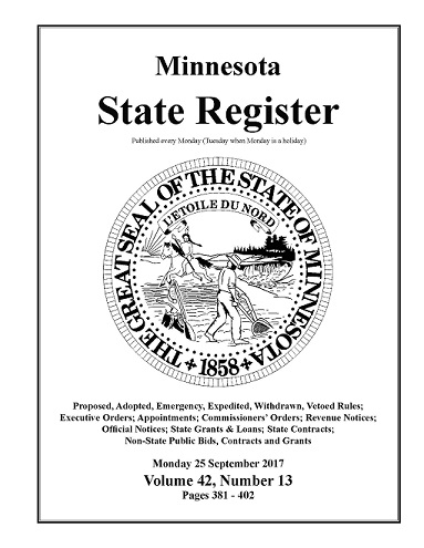 Minnesota State Register Volume 42 Number 13 Request for Proposals Watonwan County Survey