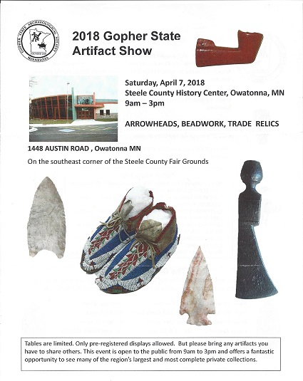 2018 GSAS 2018 Gopher State Artifact Show